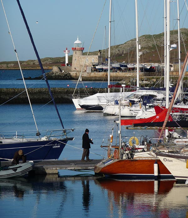 Boats in Howth Harbour